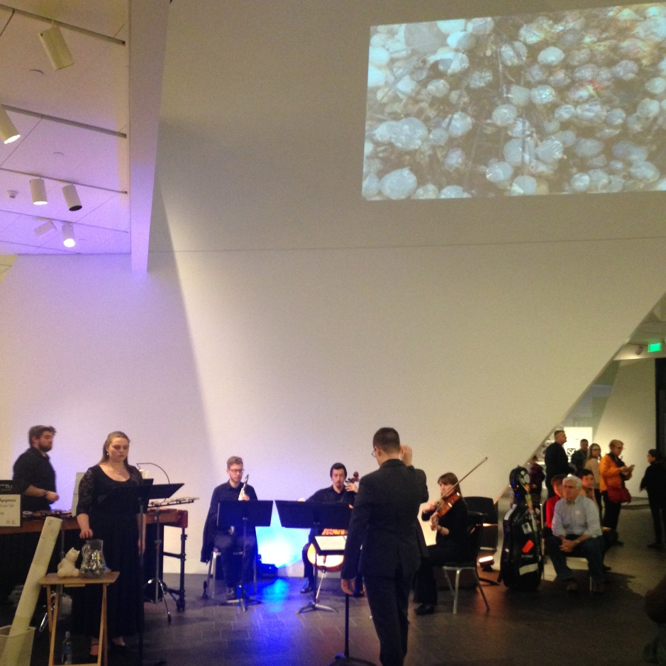 Nebula Ensemble was featured in the Denver Art Museum's Untitled Final Friday Series in a collaboration with local artists Katie Caron and Martha Russo and composer Sarah Perske.