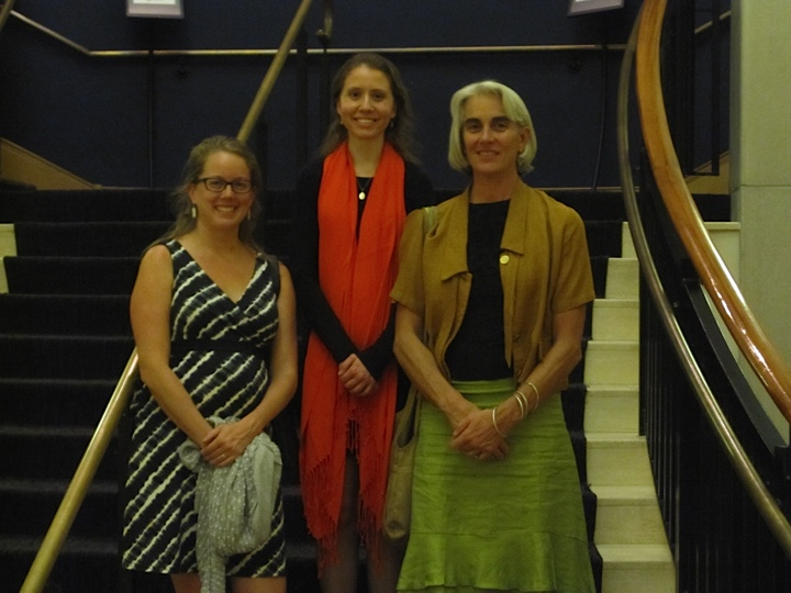 We are very grateful to artists for their support! (pictured above: Katie Caron, Sarah Perske, Martha Russo).
