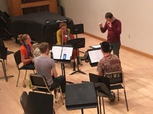 """Rehearsing Daniel Ehrlich's """"Fantasy is..."""""""